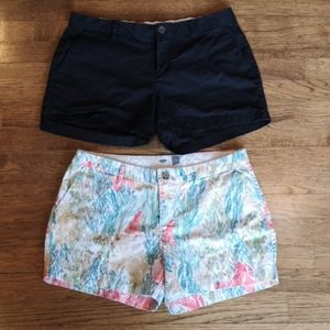 "2 Pairs Old Navy Shorts 3.25"" Inseam"